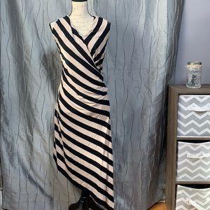 Betsey Johnson Black and Tan striped dress